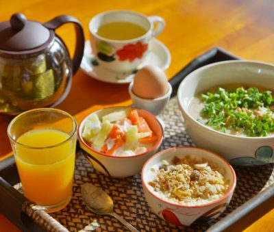 Asian and Western Breakfast Buffet Chiang Rai Museflower Retreat & Spa