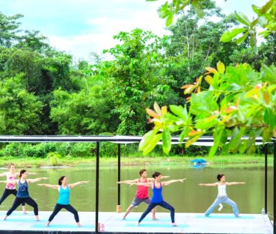 Floating Platform on Lake Yoga QiGong Tai Chi Museflower Retreat & Spa