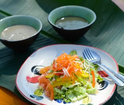Raw Food Salad Garden Fresh Chiang Rai Museflower Retreat & Spa